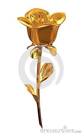 Free Gold Opening Rose Royalty Free Stock Photos - 9131758