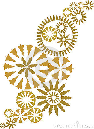 Gold ornate christmas design vector