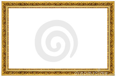 ornate gold frame stock photography image 16786222