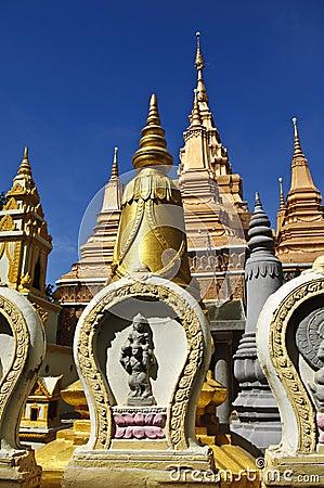 Gold pagodas, phnom penh