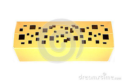 Gold paper box