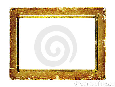 Gold paper frame for portraiture