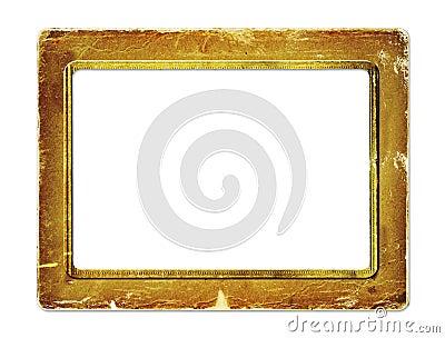 Gold paper frame for portraiture