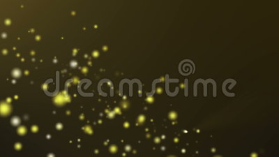 Gold particle flow on dark gold background Stock Photo