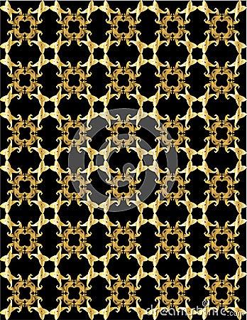 Gold pattern on black background 1