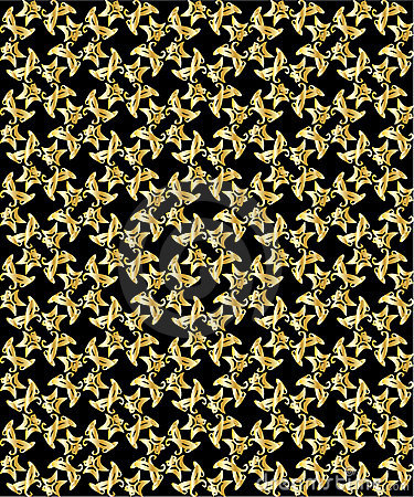 Gold pattern on black background 3