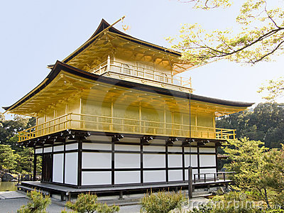 Gold pavilion in Kyoto