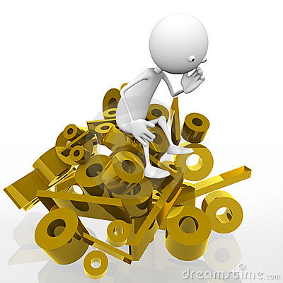 Free Gold Per Cent Stock Photography - 18848082
