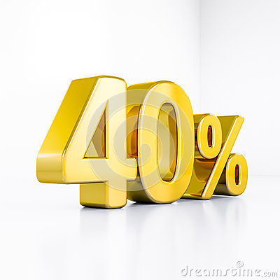 Free Gold Percent Sign Stock Photography - 81658972