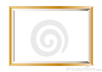 Gold photo frame minimal