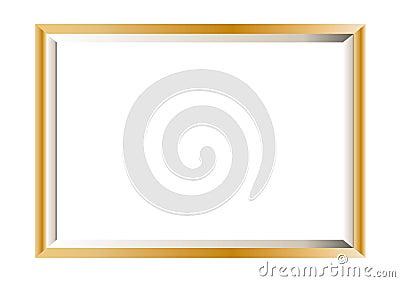 Gold photo frame minimal