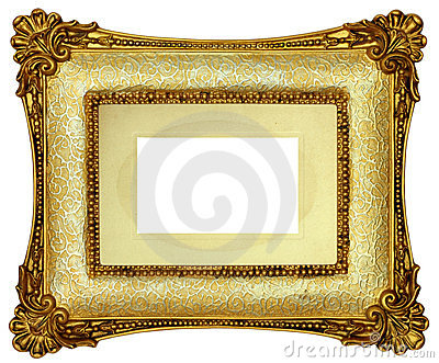 Gold Picture Frame Royalty Free Stock Photos - Image: 24014558
