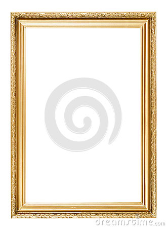 Free Gold Picture Frame Stock Photos - 33662293