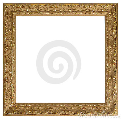 Free Gold Picture Frame Stock Photography - 487052
