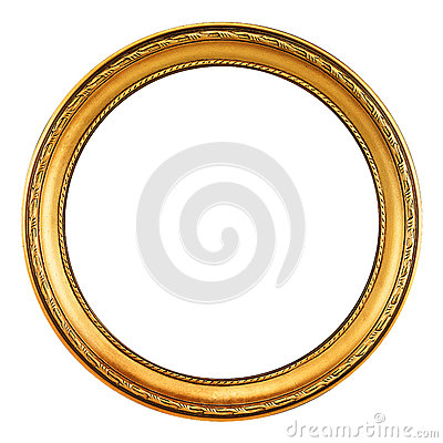 Free Gold Picture Frame - Clipping Path Stock Photos - 27276463