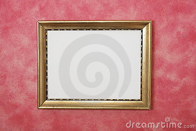 Gold Picture Frame on Wall