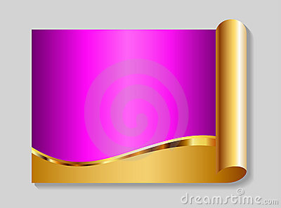 Gold and pink abstract background