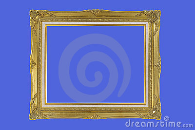 Gold plated quad-rate wooden picture frame