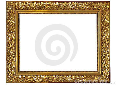 Gold plated wooden frame