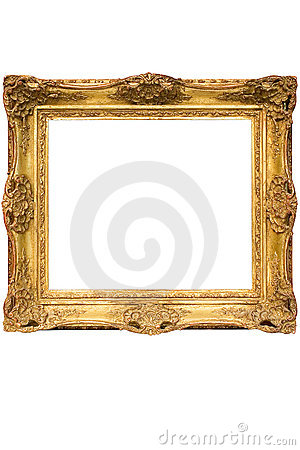 Gold Plated Wooden Picture Frame w/ Path (Cubic)
