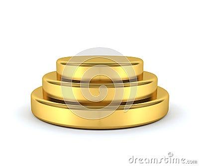 Gold podium