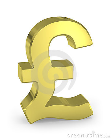 Gold pound sign