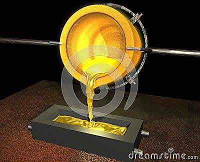Gold pour