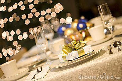 Gold present on dining table