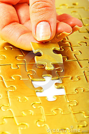 Free Gold Puzzle Stock Images - 14558514