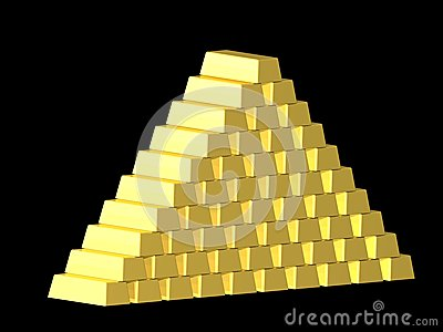 Gold pyramide