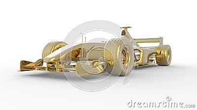 Gold race car