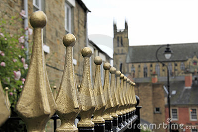 Gold Railings at Durham