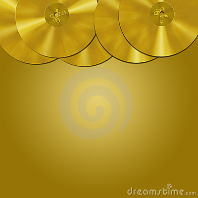 Gold record border