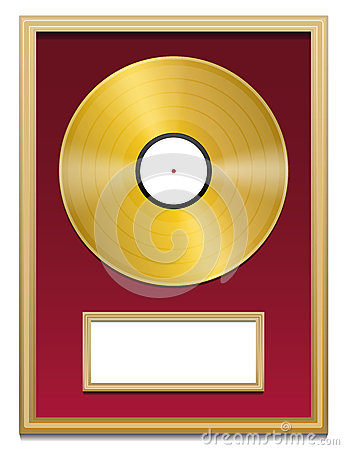 Gold Record Plaque Blank Frame Stock Vector Image 52100487