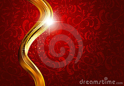 Gold and red abstract background