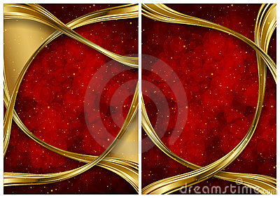 Gold and red abstract backgrounds