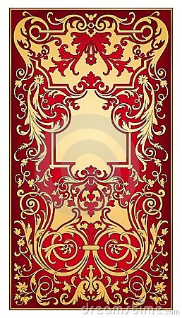 Gold and red eastern ornament  vector