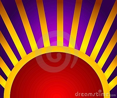 Gold Red Light Rays Background