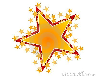... gold and red stars...