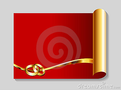 Gold and red wedding abstract background