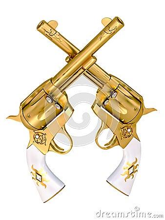 Gold revolvers