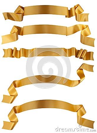 Free Gold Ribbon Stock Image - 17111941