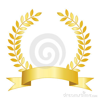 Free Gold Ribbon And Laurel Stock Photos - 21243633