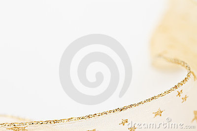 Gold ribbon background