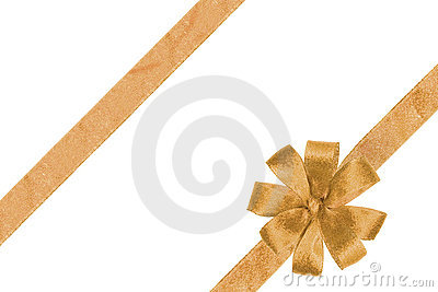 Gold ribbon with the bow