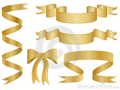 Gold Ribbons and Bows