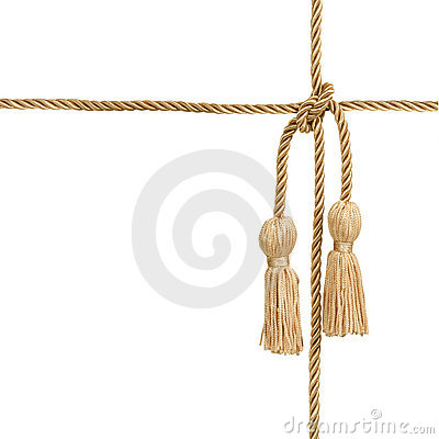Gold rope with tassel