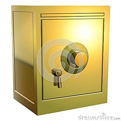 Gold safe icon