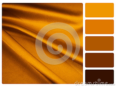 Gold satin colour palette swatch