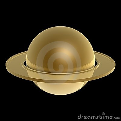 Gold Saturn
